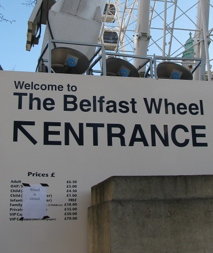 Closed Sign for Belfast Wheel