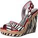 Animal prints are here to stay, show off your wild side with Naughty Monkey's Flaunt it Red wedge sandals. $90 at www.unique-vintage.com
