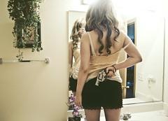 worldwar24 (yyellowbird) Tags: selfportrait girl bathroom mirror gun reflect weapon cari react