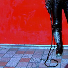 red wall and tiles (mornalll) Tags: japan boots biker bullwhip blackleather alpinestars singletail editbypicnik lovepoppers supervictory