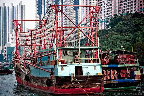 Boat in Aberdeen Harbour - Hong Kong