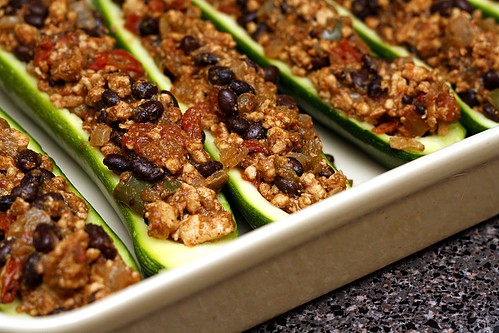 stuffed southwest zucchini boats