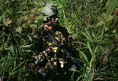 A Marine blends into the forest (United States Marine Corps Official Page) Tags: usa usmc nc marines marinecorps itc camplejeune socom usmarinecorps marsoc marinephotos msos marinepictures usspecialoperationscommand individualtrainingcourse marinecorpsforcesspecialoperationscommand marinespcops marinespecialforces marinespecialoperationscommand marinespecialoperationsschool specialopstraining