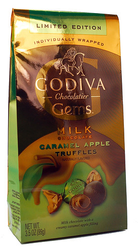 Godiva Gems Caramel Apple Truffles Packaging