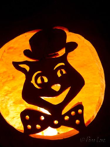 Cat jack-o-lantern