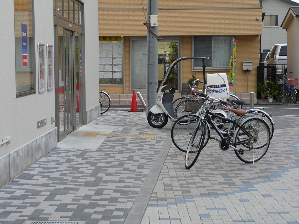 Bicycle Parking Forms Walkway