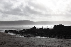The Ghosts of Widemouth Bay (Matt.Cas) Tags: ocean sea sky sunlight nature water stone clouds reflections landscape sand rocks wildlife sealife cliffs beaches ghosts naturalworld silouettes northdevon widemouthbay beachphotography