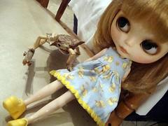 Celia visitando a Manolo