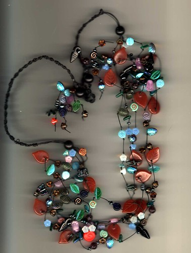 dragon's garden knotted necklace