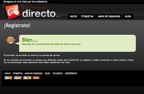Captura de pantalla de zaragozadirecto.com
