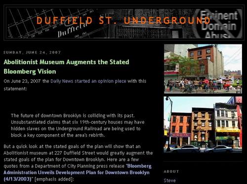 Duffield Street Underground Screencap
