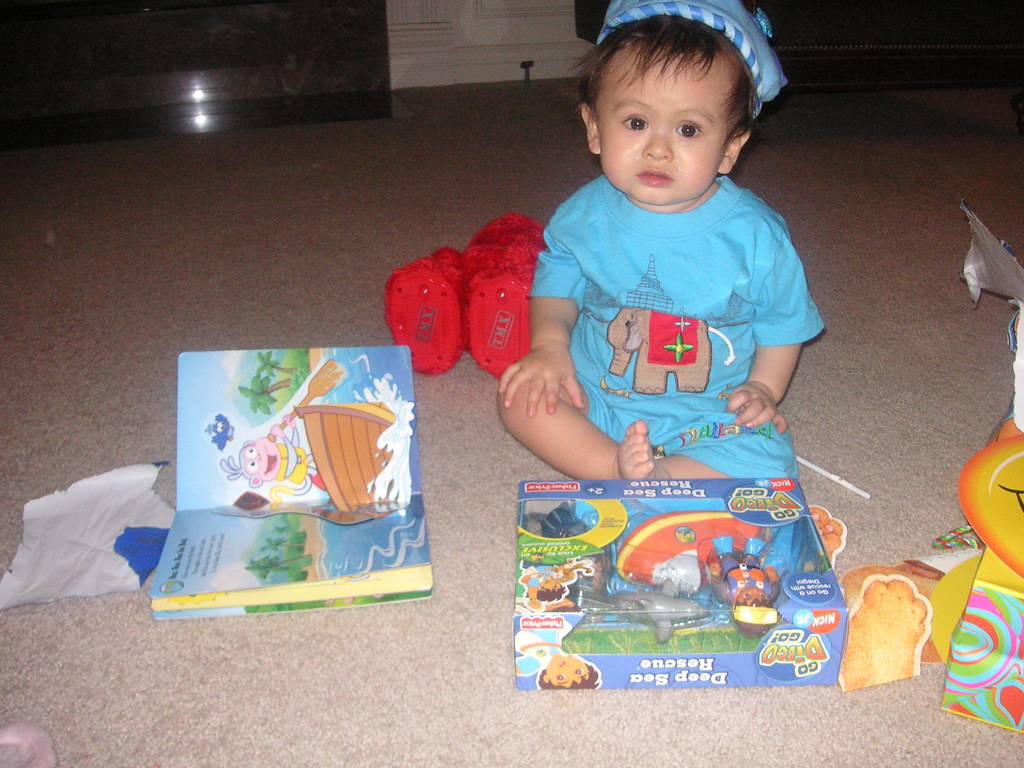Jadon opening some stuff he really likes!
