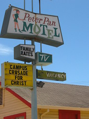 Peter Pan and/or vs. the Campus Crusade for Christ