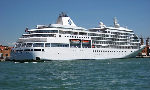 cruise liner. Silver Whisper Cruise Liner,