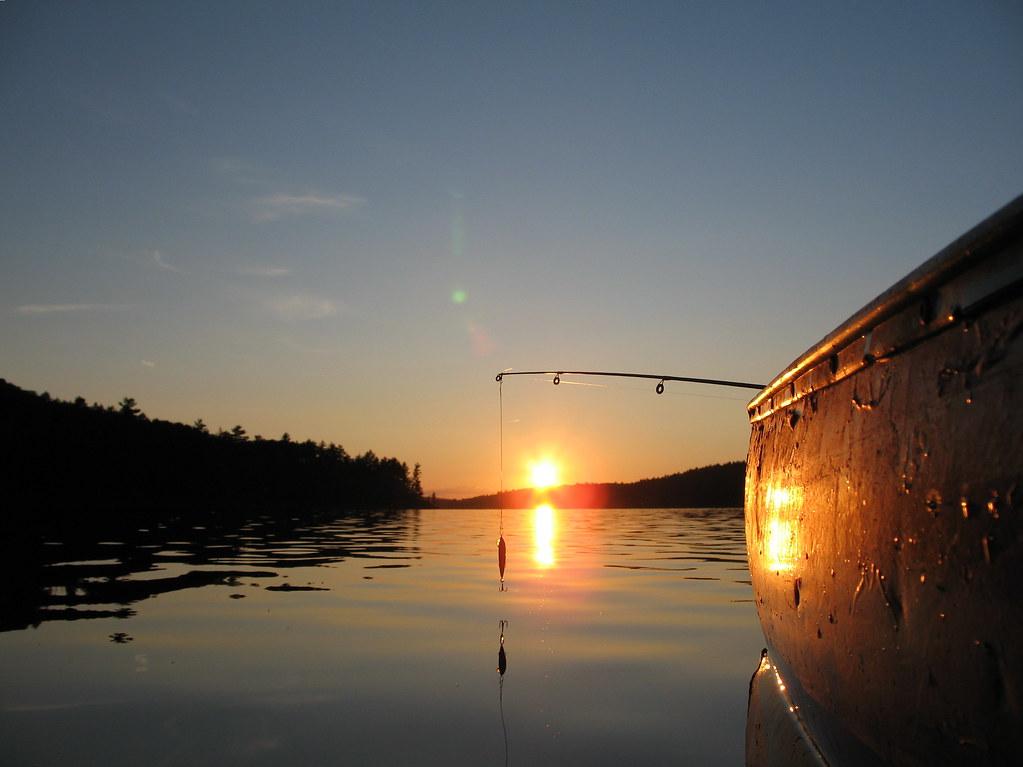 Fishing at sunset on Grand Lake
