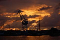 Sky on fire 2 (Rudi Pauwels) Tags: sunset sky clouds fire harbour nikond40 anawesomeshot platinumheartaward ringön götaälven guldbergskajen saariysqualitypictures