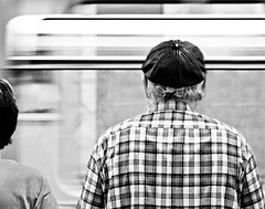 subway moment (Gregor Winter) Tags: life street old winter people bw white man motion black berlin art robert blanco hat station canon wow germany underground subway photography 350d back waiting europe moments raw y metro candid negro grain capa streetphotography cartier streetlife move bn explore rush hour ubahn moment noise bahn nois henri bresson gregor magnum decisive docu blus undergorund hcb 123bw bwart checka ducumentary ducu subwaymoments