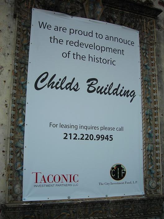 Childs Revelopment Sign
