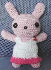 Bunny in Sundress (NameThatCandy) Tags: cute bunny children toy handmade crochet yarn cotton amigurumi