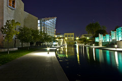 downtown canal at night (~ Dave McCaskill ~) Tags: longexposure night stars indianapolis indiana piratetreasure fall2007 piratetreasure2 thegistofit piratetreasure3 piratetreasure4 piratetreasure5