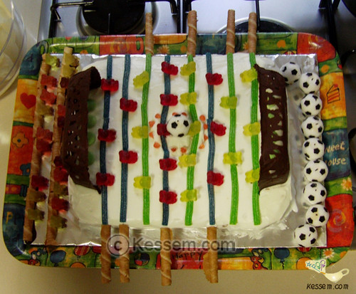 Foosball Birthday Cake 2