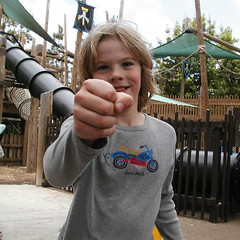 Russell refuses to grant a model release @ Legoland California