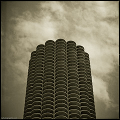Chicago-134 (T. Scott Carlisle) Tags: chicago 6x6 film up skyline architecture clouds buildings square 50mm fuji hasselblad neopan tsc acros100 r09 tphotographiccom tscottcarlisle