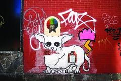 Street Art - Brooklyn (Into Space!) Tags: street city nyc newyorkcity urban dog streetart ny newyork art brooklyn truck canon graffiti photo manhattan ewok vandal illegal take williamsburg gemeos cope2 malvo intospace intospaces