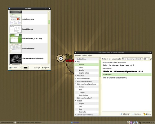 Nitrogen and Gnome Specimen running on Openbox 3.3.995