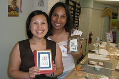 Aunty Sarita and mommy at their card making class