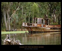 Tales of the Murray River (fotofantasea) Tags: travel orange brown reflection tree green bird nature water metal composition river landscape boat rust bravo branch photographer searchthebest timber decay wildlife australia wallart roadtrip 330 photograph frame newsouthwales hull derelict murrayriver mildura magicdonkey sonya100 excellentphotographerawards auselite 1stapcomp hollykempe