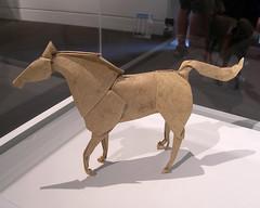 Origami horse, Peabody Essex Museum, Salem