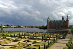 The Castle and some of the Baroque Garden (Saul Panzer (mostly in reality these days)) Tags: canon 350d rebel frederiksborg frederiksborgslot hillerod 2485mm hillerd fredriksborgcastle 2485
