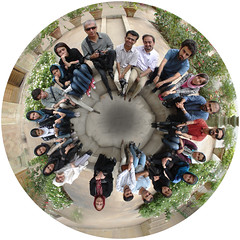 Me Fish! (Hamed Saber) Tags: polarpanorama polar panorama fisheye flickrmeetup meetup gathering golestan palace empty pool round circle sphere             saber persian iran persia iranian hamed farsi upcoming:event=223329 cd tehran