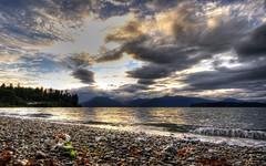 Pebbles on the Coastline (Mista Yuck) Tags: sky mountain mountains beach water clouds canon rebel rocks raw olympicpeninsula pebbles wa olympic washingtonstate range hdr hoodcanal sigma1020mm kitsapcounty photomatix xti 400d
