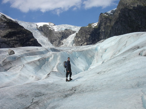 Phil on the Austerdalsbreen Glacier