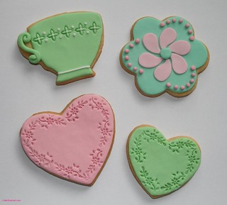 Cookies with fondant
