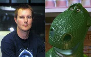 Parecido razonable entre Javier Lázaro y el dinosaurio de Toy Story