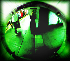 oval tube (buckaroo kid) Tags: uk blur green london station night photoshop mirror with tube oval digitalxpro londonist a hrefhttpwwwpixsycomprotected pixsya