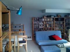 living room, SW corner from SE