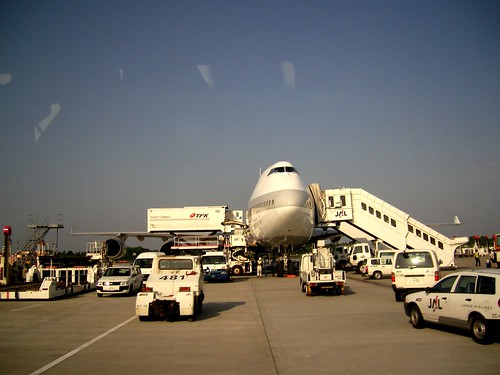 飛行機って、大きいのね