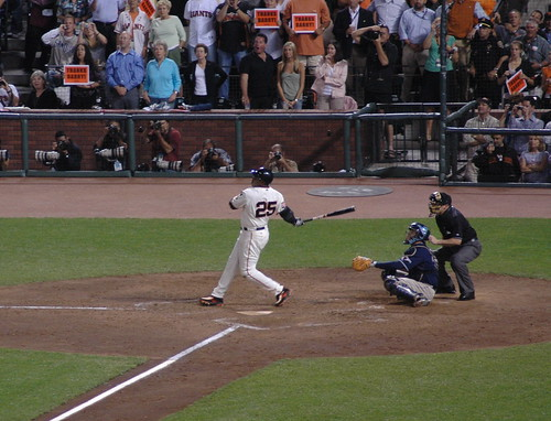 Barry's last at bat as a Giant