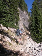 HJ on trail toward Alpine