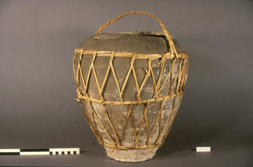 Stoneware Pot With Basket