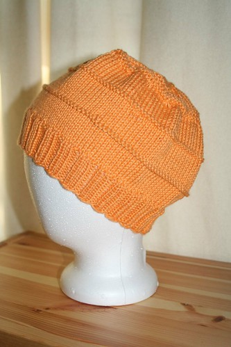 Chemo Hat - Knit Pick Shine - Apricot