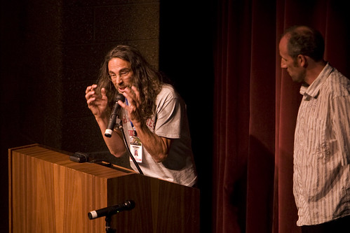 Tom Shadyac on stage