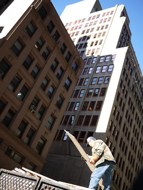 construction worker overhead #walkingtoworktoday