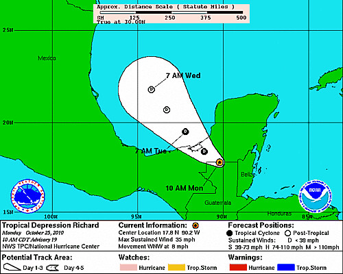 TS Richard path as of 10-25-10