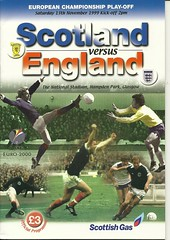 Scotland v England19991113 (tcbuzz) Tags: park scotland football european glasgow scottish championships hampden association programme