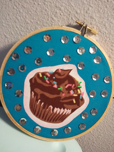 Disco cupcake wall art